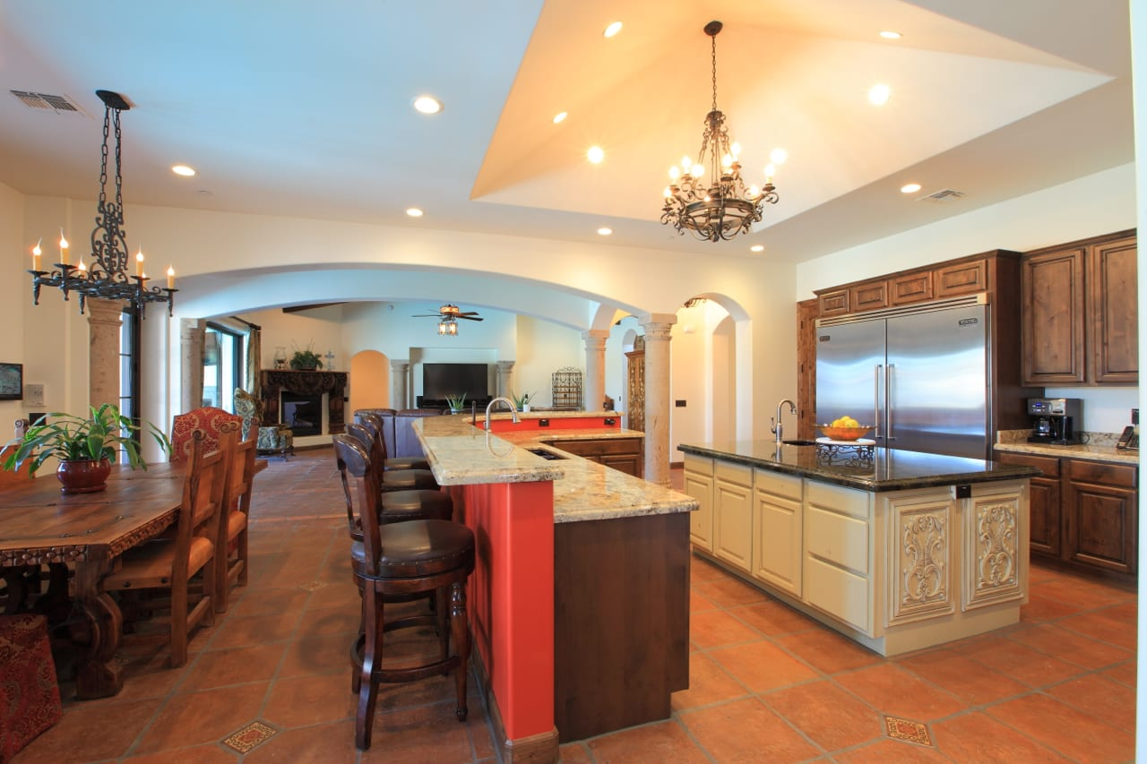 Spanish Style Remodel | 15 | dining room and kitchen